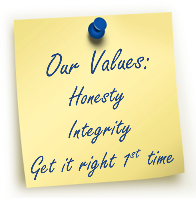 Post it Note - Sales Our Values 2